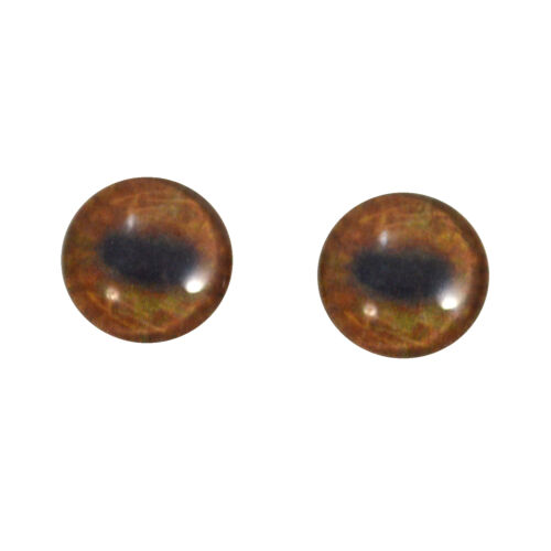 16mm Moose Handmade Glass Doll Eyes for Sculptures Jewelry Making or Taxidermy