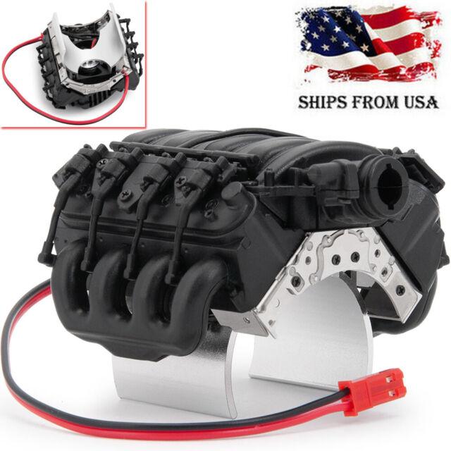 Simulation V8 Engine Cover Radiator Motor Fan For D90 D110 TRX-4 1//10 RC Crawler