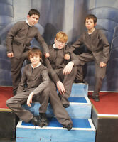 1960's Grey Beatles Suit, John, Paul, George,ringo Complete Fancy Dress Kids Set