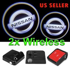 2x Wireless Ghost Shadow Laser Projector LED Light Courtesy Door Step for Nissan