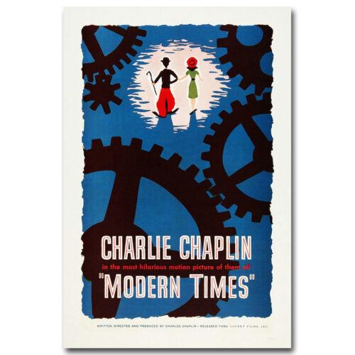 Charlie Chaplin Modern Time Classic Film Art Silk Poster Print 12x18 inch