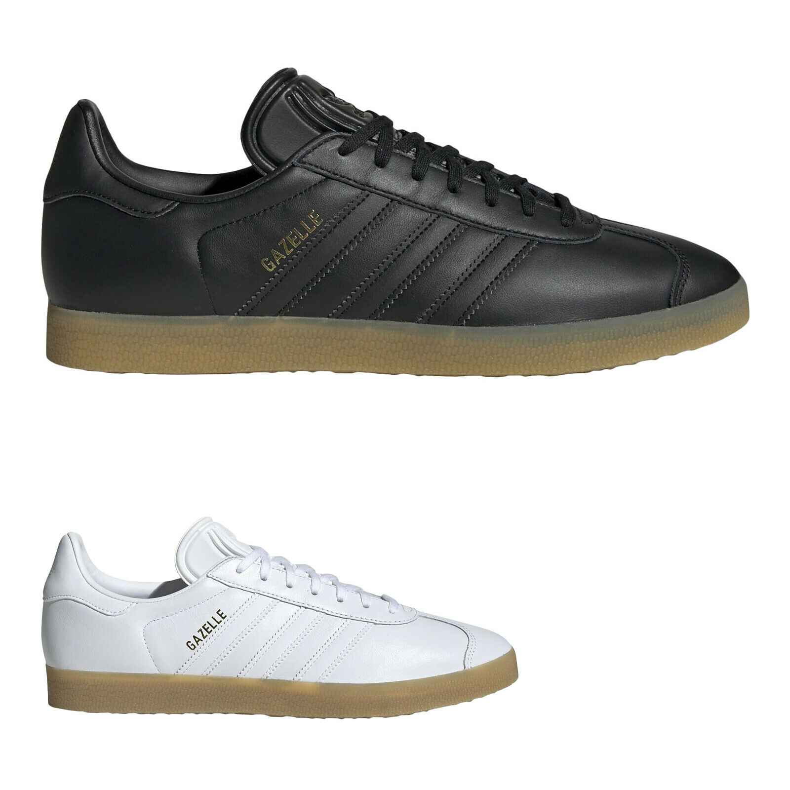 Adidas Gazelle Leather Classic Flat Casual Lace-Up Mens Trainers