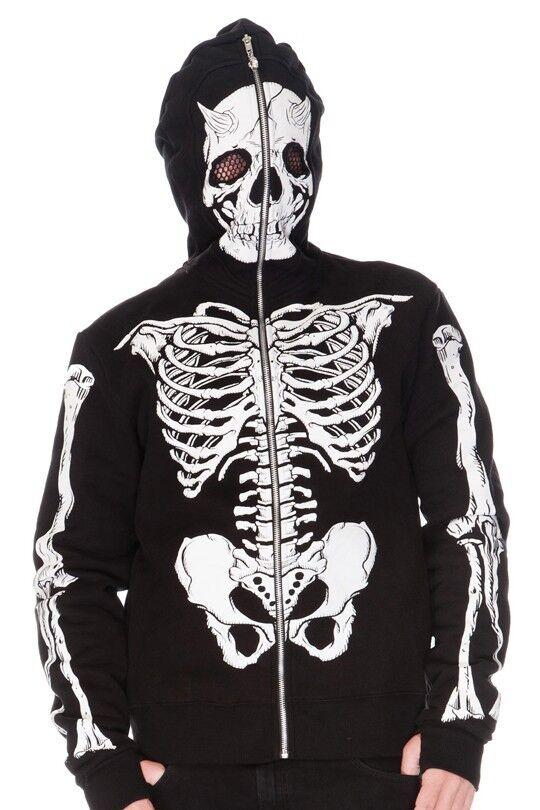 JAWBREAKER Demon Skeleton LIVING DEAD SOULS Full-Face Hood HOODY HOODIE HMA4203