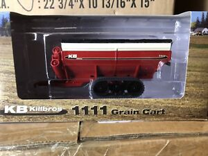 Speccast-1-64-Killbros-1111-grain-Cart-red-on-tracks