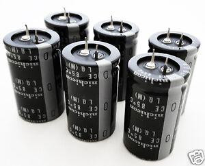 Nichicon 470uF 470 uF 400V NEW Radial Electrolytic Capacitors (6 pc Lot)