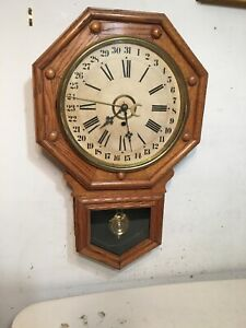 Antique Oak Gilbert Admiral Calendar