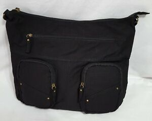 New Women's Target Black Hobo Style Bag With Outside ...