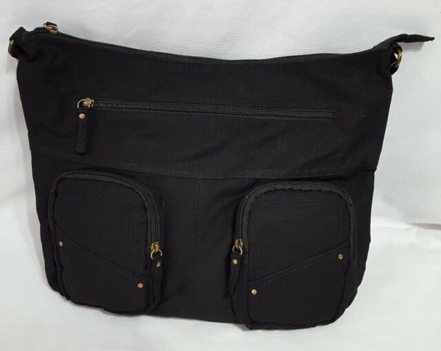 0bb15de5fcd018 New Women's Target Black Hobo Style Bag W Pockets 7