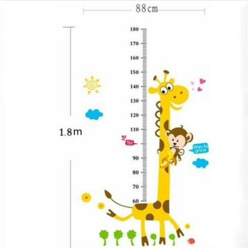 Removable Wall Sticker Cute Giraffe Height Measuring Scale For Kid Boy and Girl