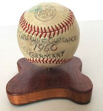 1960 Signed Baseball Germany Karlsruhe Carsaders Military Base Team? Vintage