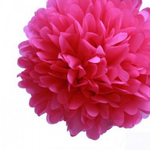 "1//10x Tissue Paper Pompom Flower Ball Home Wedding Party Decor Supply 8/""//10/""//14/"""