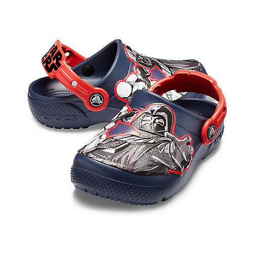 Featuring Darth Vader /& Stormtrooper Graphics Crocs Kids Boys and Girls Star Wars Dark Side Clog