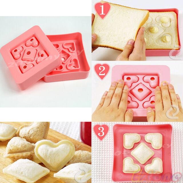 New Mini Heart Shape Mold Sandwich Bread Cake Maker DIY Mould