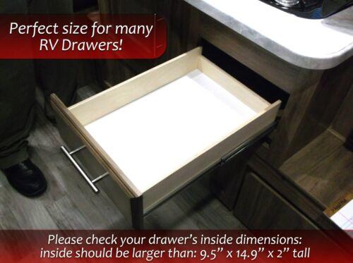 """RV Camper Silverware Organizer Drawer Insert Black 6 Slot 9.5/"""" x 14.9/"""" No Rattle"""