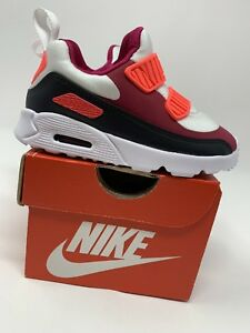Details about BABY GIRLS: Nike Air Max Tiny 90 Shoes, Neon Pink & Black Size 7c 881924 101