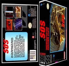 SOS - SNES Reproduction Art Case/Box No Game.