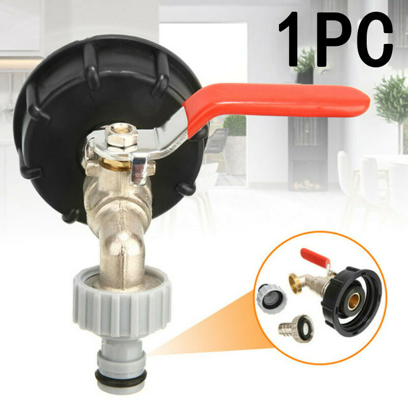 IBC Adapter S60 X6 With 1//2 Outlet Tap Kit For Rain Water Tank Rainwater Barrel