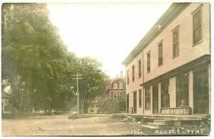 Unity ME Dirt Street View Store Fronts 1913 Hand Tinted RPPC Real Photo Postcard