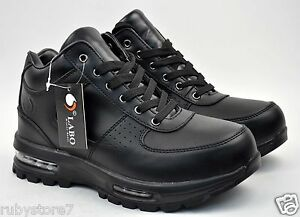 Labo Men S Black Hiking Winter Snow Leather Boots Shoes