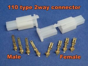 6 Pins Electrical Wire Connector Terminal Wiring Motorcycle ATV 1 kit Plug #110