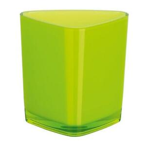 Spirella-Trix-acrilico-verde-kiwi-Taza-de-diente-Vaso-enjuague-bucal-Negro