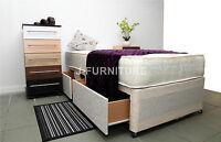 3ft Single Divan Bed, Storage And 25cm Deep Orthopaedic Mattress Factory Shop