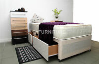 3ft Single Divan Bed, Storage And 25cm Deep Orthopaedic Mattress Factory Shop
