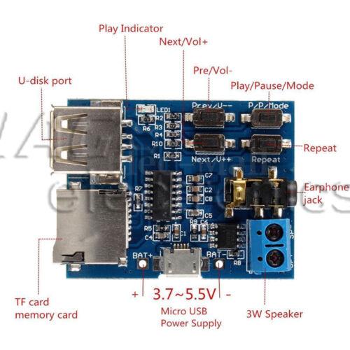 MP3 Decoder Board TF//USB// Reader IR Remote Bluetooth//FM Car Tafel Modul L1SA
