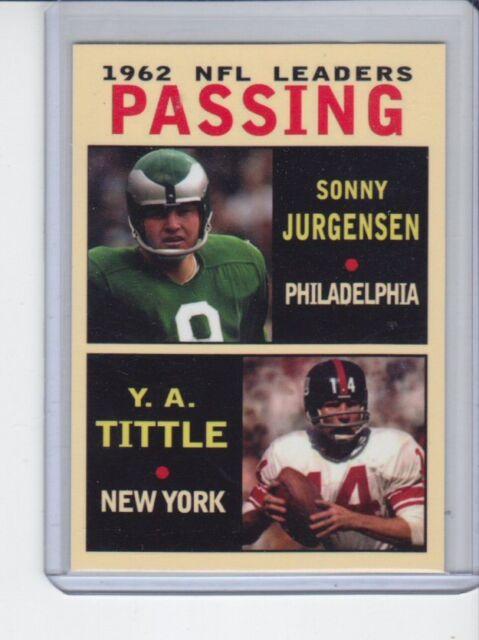 Sonny Jurgensen/Y A Tittle '62 NFL Passing Leaders rare MC Glory Days #3