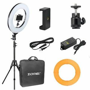 "Inquiet Zomei 14"" Del Ring Light Dimmable éclairage Avec Support/& Couleur Filtre Pour Youtube-afficher Le Titre D'origine"