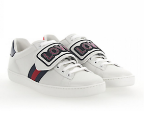 Gucci Women Ace Love Embellished Snap