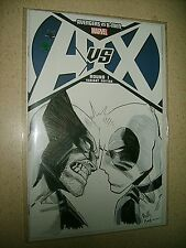 REILLY BROWN ORIGINAL ART Avengers vs X-men Round 1 variant Deadpool Wolverine