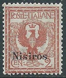 1912 Egeo Nisiro Aquila 2 Cent Mnh ** - Ra3