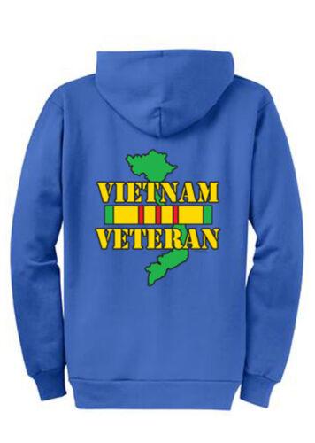 4XL Tall LT Vietnam Vet Hoodie Zip Up Sweatshirt S 4XLT Sizes Port /& Company