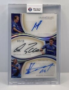 2020 Panini Immaculate Soccer Triple Autograph Robben/ballack/makelele #02/10
