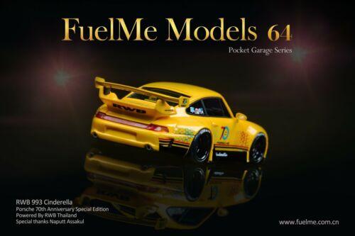 """993 FuelMe 1//64 RAUH-Welt BEGRIFF RWB Porsche 911 """"Cinderella"""" Yellow"""