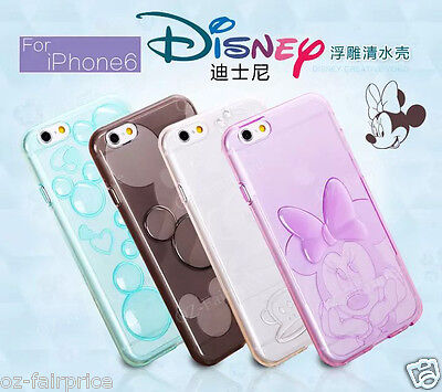 Disney Minnie iPhone SE/5/6/S/Plus Soft 3D Crystal Clear TPU Silicone case cover