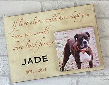 Personalised Handcrafted Wooden Dog Cat Pet Memorial Plaque Keepsake Memory Gift