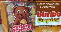 Puertorico Bimbo Choco Vanilla Cream Sandwich Cookies Galleta Candy Sweets Snack