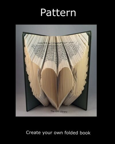 créer votre propre livre plié ANGEL heart # 2 bookfolding pattern