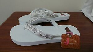 "1fc62976a35ff New! Womens Justin ""Stace"" White Sandals – Flip Flops 5515405 Size 5 ..."