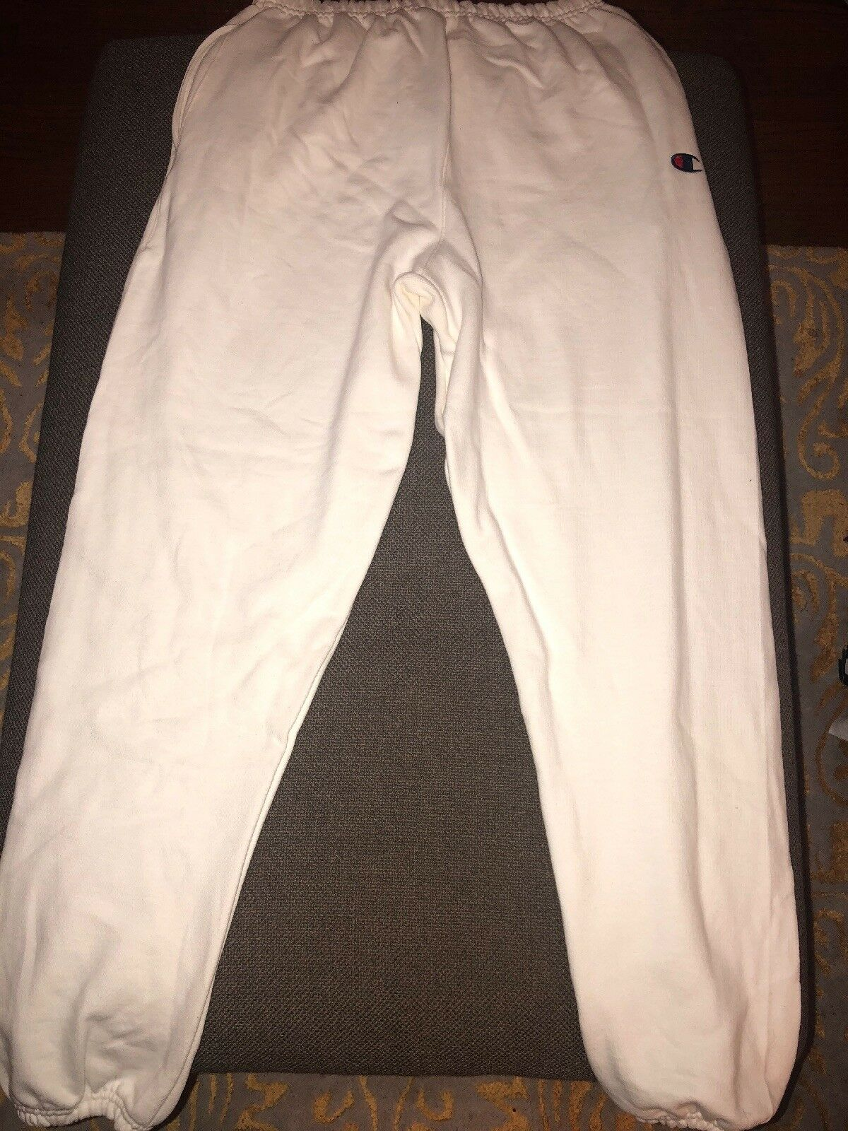 Champion Urban Outfitters Reverse Weave Banded Bottom Pants L RARE DOUBLE LOGO