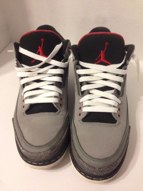 Nike air jordan retrò 3 stealth 136064 003 taglia 10