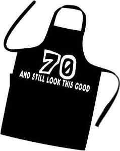 61ac13f0d3 La foto se está cargando Nuevo-70-Cumpleanos-Cooks-chefs-Delantal-70-y-