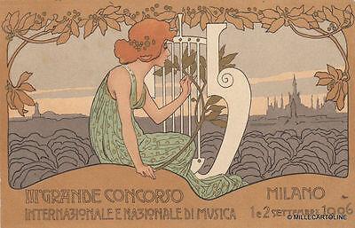 * MILANO - III° Grande Concorso Internazionale e Nazionale di Musica 1906 Esp.