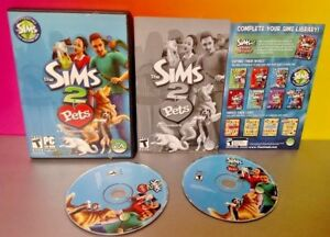 Sims-2-Pets-Expansion-Pack-PC-Computer-Game-Disc-Case-w-Key-Code-on-Manual