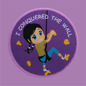 10 I conquered the wall climbing girl bouldering badge sport patches badges