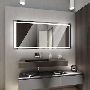 Atlanta Badspiegel Led Badezimmerspiegel Wandspiegel Schalter