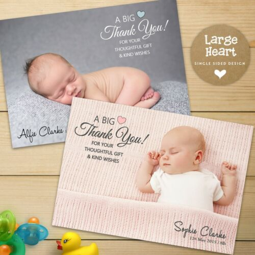 10 x  Personalised Thank You Cards ~ Baby Boy or Girl Christening Birthday