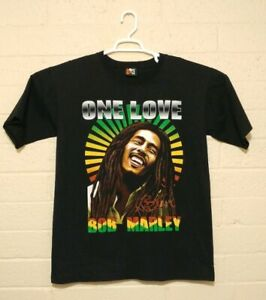 Bob Marley ONE LOVE vintage rock tee T shirt sz medium black